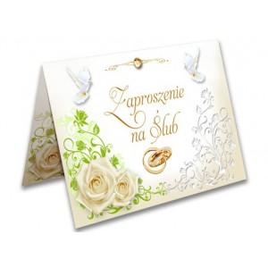Zaproszenia na ślub - wzór 1 (róże)