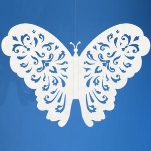 Papierowy motyl 14x10 cm