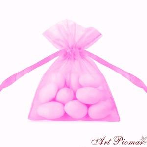 Woreczki z organzy jasno różowe