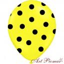 Balon żółty w czarne kropki