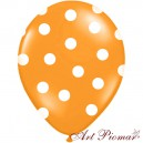 Balon pomarańczowy w białe kropki