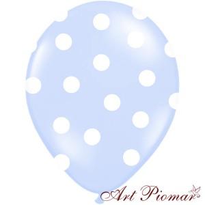 Balon błękitny w białe kropki