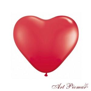 Balony serca czerwone
