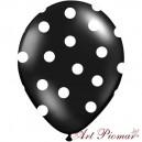 Balon czarny w białe kropki
