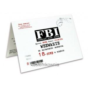 Zaproszenie na 18-tkę wzór 3 (FBI)