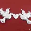 Gołąbki z serduszkiem srebrne