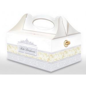 Pudełko na ciasto SREBRNE