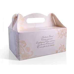 Pudełko na ciasto KWIATOWE ORNAMENTY