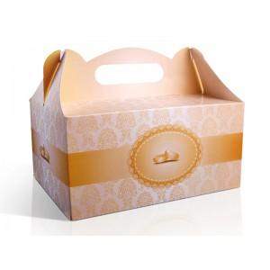 Pudełko na ciasto ZŁOTE DEKORY