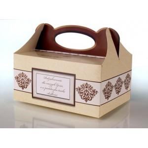 Pudełko na ciasto CZEKOLADOWE