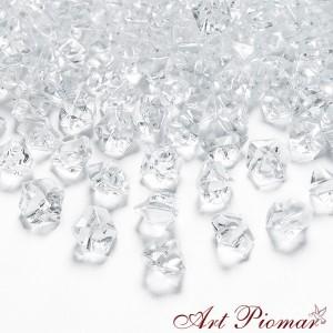 Lód kryształowy przeźroczysty 40 szt mały