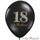 """Pastel Black z białym nadrukiem """"18 and Brilliant"""""""