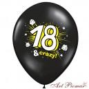 """Pastel Black z biało-żółtym nadrukiem """"18 and crazy"""""""