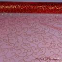 Organza w esy floresy 40 cm czerwona
