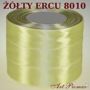 Tasiemka satynowa 12mm kolor 8010 żółty ecru