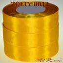 Tasiemka satynowa 12mm kolor 8012 żołty