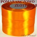 Tasiemka satynowa 12mm kolor 8018 Pomarańczowo złoty