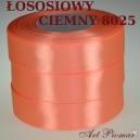 Tasiemka satynowa 12mm kolor 8025 łososiowy ciemny