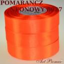 Tasiemka satynowa 12mm kolor 8027 Neonowy pomarańcz