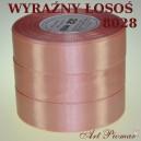 Tasiemka satynowa 12mm kolor 8028 Wyraźny łosoś
