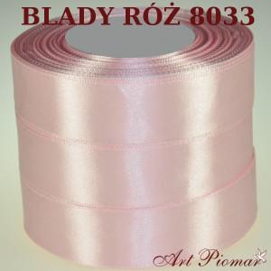 Tasiemka satynowa 12mm kolor 8033 Blady róż