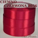 Tasiemka satynowa 12mm kolor 8056 Ciemno czerwona