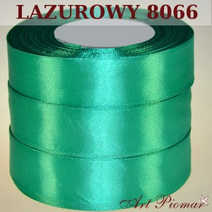 Tasiemka satynowa 12mm kolor 8066 Lazurowy