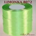Tasiemka satynowa 12mm kolor 8072 Limonka