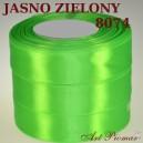 Tasiemka satynowa 12mm kolor 8074 Jasno zielony