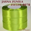 Tasiemka satynowa 12mm kolor 8078 Jasno zgniła zieleń