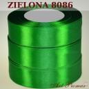 Tasiemka satynowa 12mm kolor 8086 Zielona