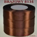 Tasiemka satynowa 12mm kolor 8134 Brązowy