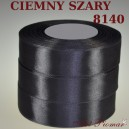 Tasiemka satynowa 12mm kolor 8140 Ciemno szary