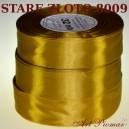 Tasiemka satynowa 25mm kolor 8009 stare złoto