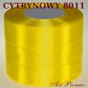 Tasiemka satynowa 25mm kolor 8011 cytrynowy