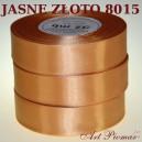Tasiemka satynowa 25mm kolor 8015 jasne złoto