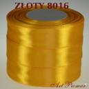 Tasiemka satynowa 25mm kolor 8016 złoto