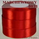 Tasiemka satynowa 25mm kolor 8031 marchewskowy