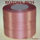 Tasiemka satynowa 25mm kolor 8034 różowy