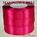 Tasiemka satynowa 25mm kolor 8051 malinowy