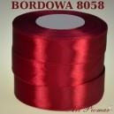 Tasiemka satynowa 25mm kolor 8058 bordowy