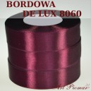 Tasiemka satynowa 25mm kolor 8060 bordo de lux