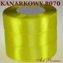 Tasiemka satynowa 25mm kolor 8070 kanarkowy