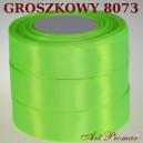 Tasiemka satynowa 25mm kolor 8073 groszkowy