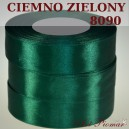 Tasiemka satynowa 25mm kolor 8090 ciemno zielony