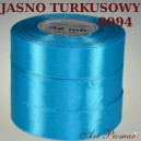 Tasiemka satynowa 25mm kolor 8094 jasny turkus