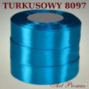 Tasiemka satynowa 25mm kolor 8097 turkus