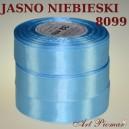 Tasiemka satynowa 25mm kolor 8099 jasny niebieski