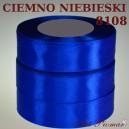 Tasiemka satynowa 25mm kolor 8108 ciemno niebieski