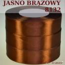 Tasiemka satynowa 25mm kolor 8132 jasny brąz